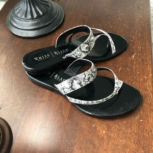 WHBM Faux Snake, Leather Sandals